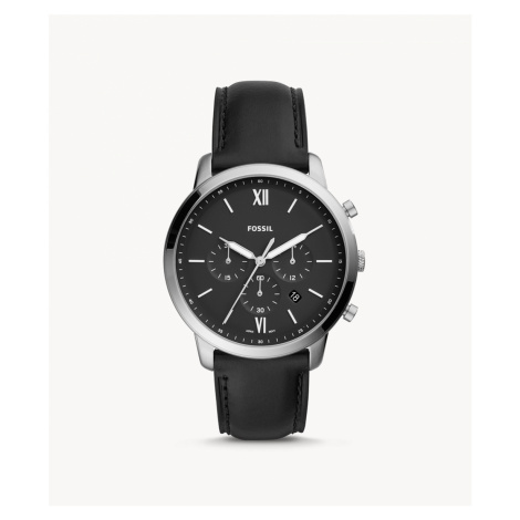 Fossil Men's Neutra Chronograph Black Leather Watch