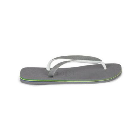 Mens Mid Grey Havaianas Grey And White Flip Flops, Mid Grey
