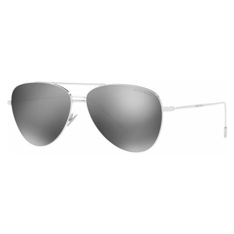 Giorgio Armani Man AR6049 - Frame color: Silver, Lens color: Grey-Black, Size 58-13/150