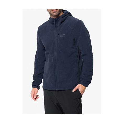 Jack Wolfskin Skywind Men's Zip-Up Hooded Fleece, Night Blue
