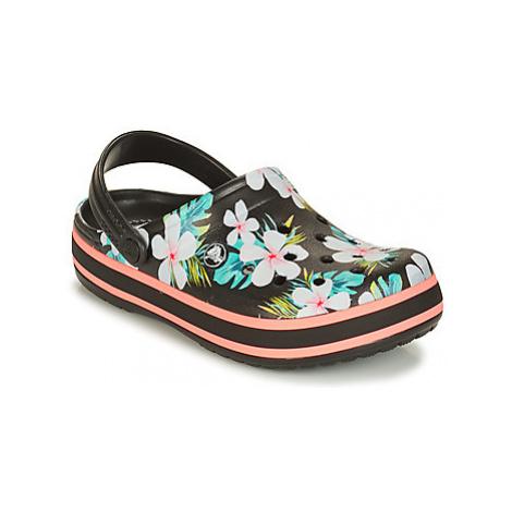 Crocs CROCBAND SEASONAL GRAPHIC CLOG women's Clogs (Shoes) in Black