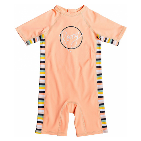 swimsuit Roxy Lets Go Surfing Shorty On - MFG3/Salmon Candy Stripes - kid´s
