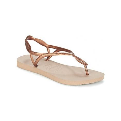 Havaianas LUNA women's Flip flops / Sandals (Shoes) in Gold