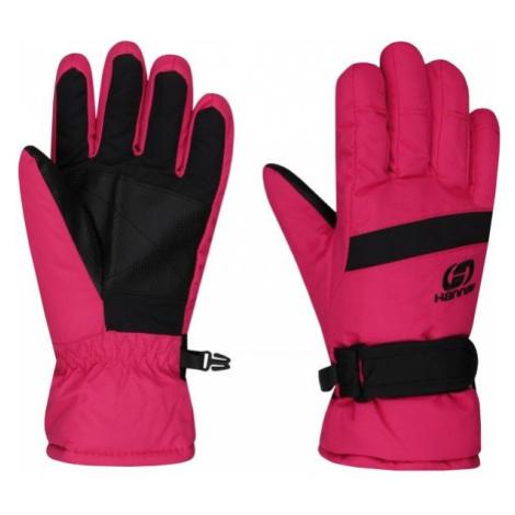 Hannah LEDDA pink - Kids' ski gloves