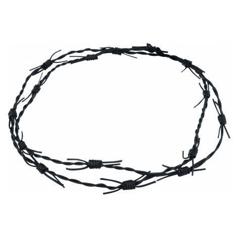 Barbwire - - Leather bracelet - black