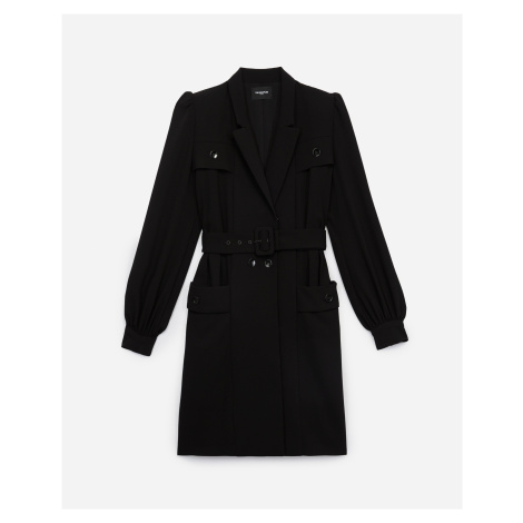 The Kooples - Black tailored formal rock-style dress - WOMEN