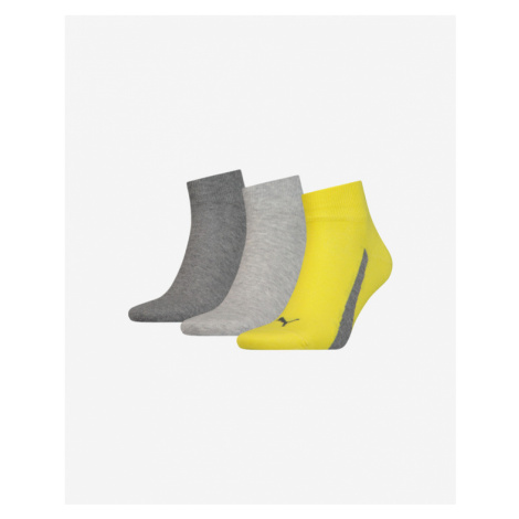 Puma Set of 3 pairs of socks Yellow Grey