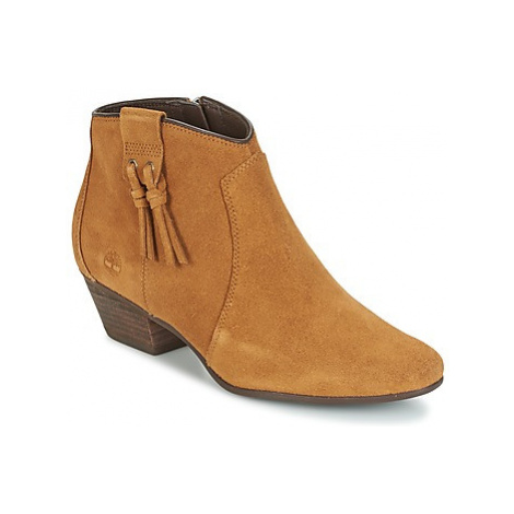 Timberland CARLETON TASSLE BOOT women's Low Ankle Boots in Brown