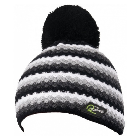 R-JET THICK KNITTED STRIPES gray - Men's knitted hat