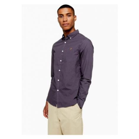 Mens Navy Farah Farley Slim Shirt*, Navy
