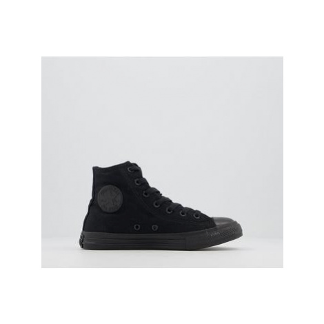 Converse All Star Hi Mid Sizes BLACK MONO