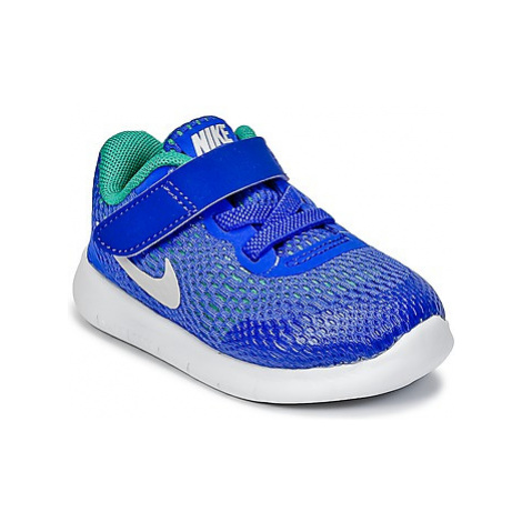 Nike FREE RUN TODDLER boys's Children's Shoes (Trainers) in Blue