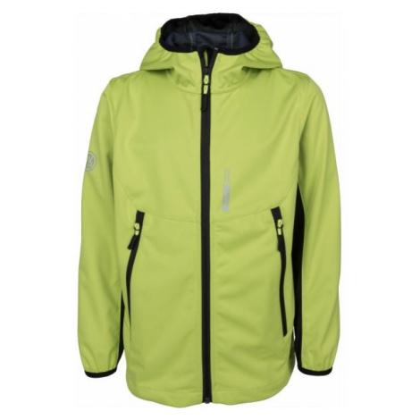 Lewro KEVIN green - Boys' softshell jacket