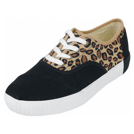 TOMS - Leopard Cordones Indio Casual Lace-Up - Sneakers - black