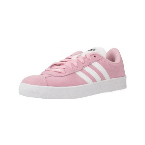 Adidas VL COURT 2.0 K girls's Children's Shoes (Trainers) in Pink