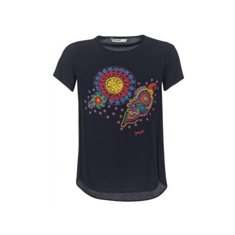 Desigual NAIKLE women's T shirt in Black