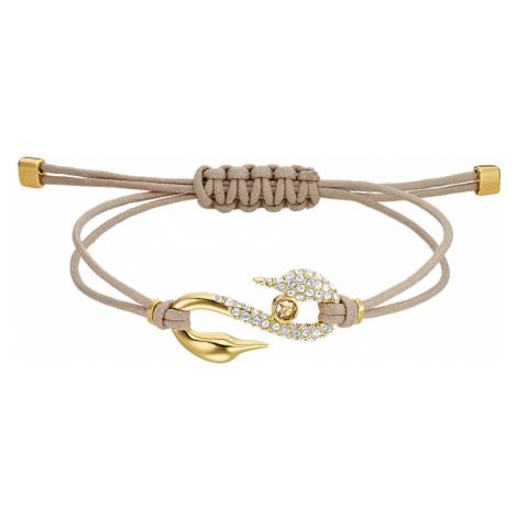 Swarovski Power Collection Hook Bracelet, Beige, Gold-tone plated