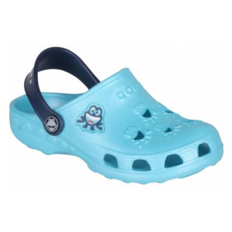 Coqui LITTLE FROG blue - Children's sandals