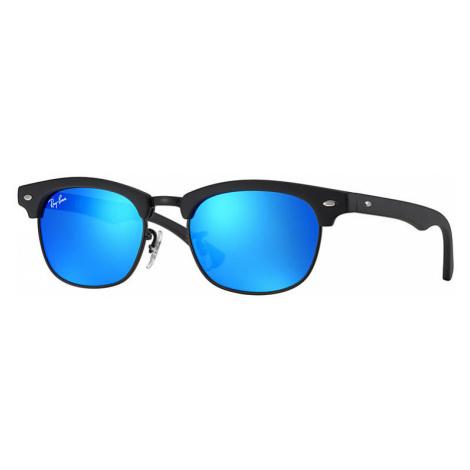 Ray-Ban Clubmaster junior Unisex Sunglasses Lenses: Blue, Frame: Black - RJ9050S 100S55 45-16