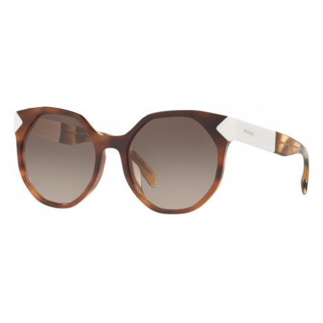 Prada Woman PR 11TS - Frame color: Brown, Lens color: Grey-Black, Size 55-19/140