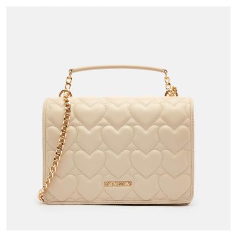 Love Moschino Women's Heart Quilt Shoulder Bag - Ivory