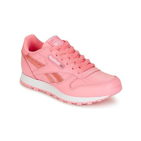 Reebok Classic CLASSIC LEATHER SPRING girls's Children's Shoes (Trainers) in Pink