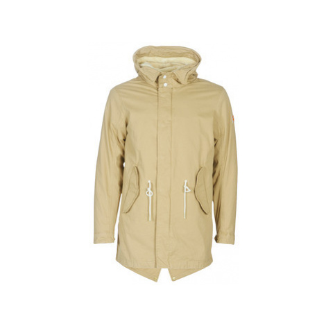 Scotch Soda CLASSIC HOODED PARKA WITH TEDDY AND MESH LINING men's Parka in Beige Scotch & Soda