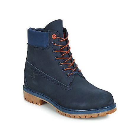 "Timberland 6"" Premium Boot men's Mid Boots in Blue"