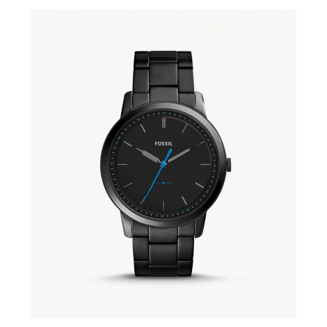 Fossil Men's The Minimalist Slim Three-Hand Black Stainless Steel Watch