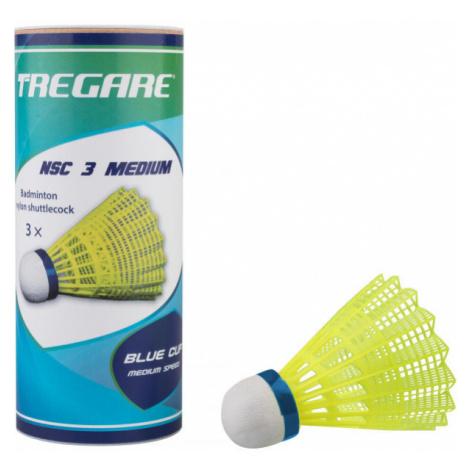 Tregare NSC 3 MEDIUM YELLOW - Badminton shuttlecocks