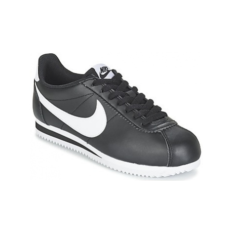 Nike CLASSIC CORTEZ LEATHER W women's Shoes (Trainers) in Black
