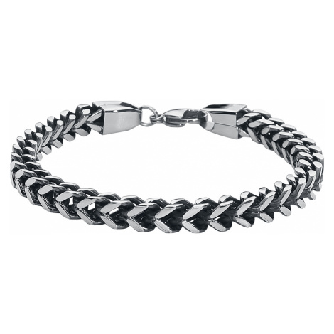 Link Chain - - Bracelet - silver-coloured