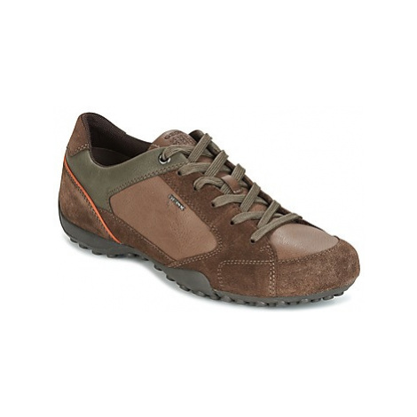 Geox UOMO SNAKE men's Shoes (Trainers) in Brown