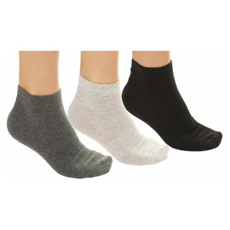 socks Outhorn SOM600/3 Pack - Black/Light Gray Melange/Dark Gray Melange - men´s