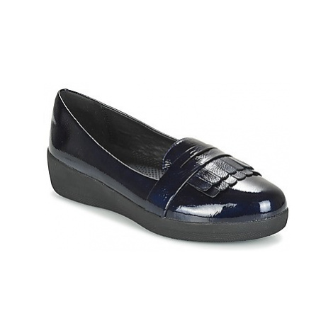 FitFlop FRINGEY SNEAKER LOAFER women's Loafers / Casual Shoes in Blue