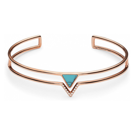 Fossil Women Turquoise Triangle Open Cuff Gold - One size
