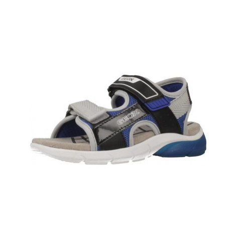 Geox J SANDAL FLEXYPER BO boys's Children's Sandals in Grey