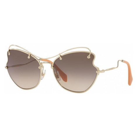 Miu Miu Woman MU 56RS - Frame color: Gold, Lens color: Grey-Black, Size 61-19/135