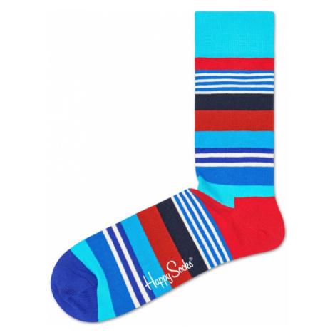 Happy Socks Multi Stripe Socks Blue Red