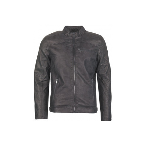 Guess EDGY BIKER men's Leather jacket in Black