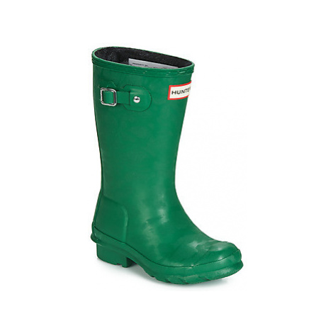Hunter KIDS ORIGINAL INSULATED girls's Children's Wellington Boots in Green
