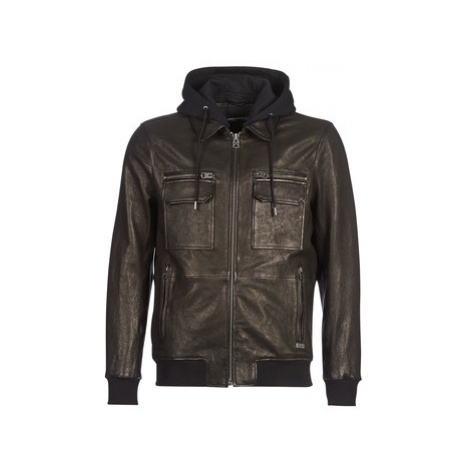Chevignon FIRST men's Leather jacket in Black