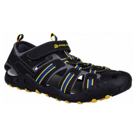ALPINE PRO OLIVIO black - Children's summer shoes