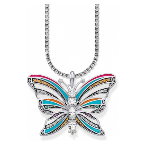 THOMAS SABO Silver & Cubic Zirconia Butterfly Necklace