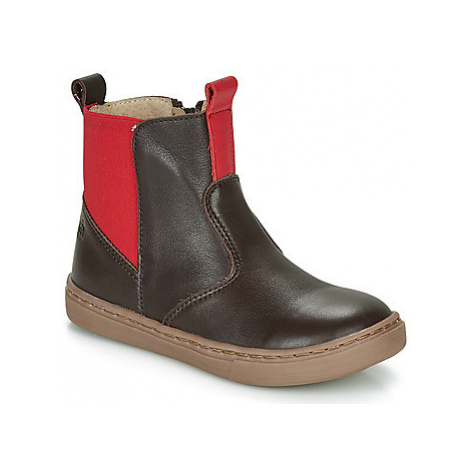 Citrouille et Compagnie JRYNE boys's Children's Mid Boots in Brown