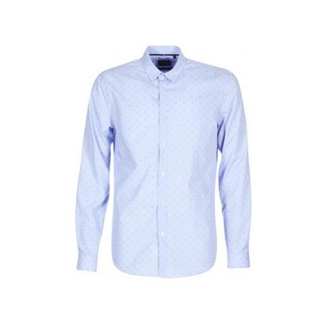Sisley KELAPSET men's Long sleeved Shirt in Blue