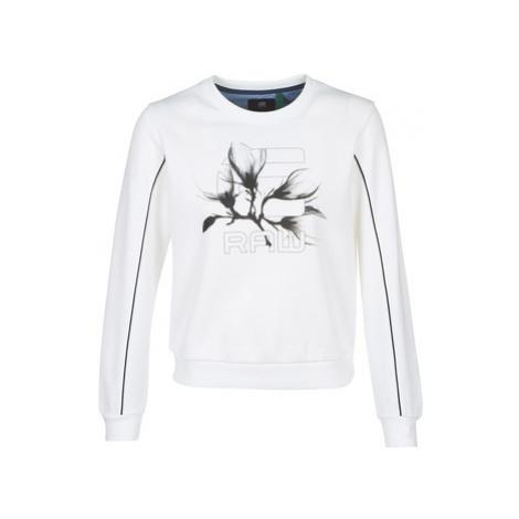 G-Star Raw GRAPHIC 21 XZULA R SW WMN LS women's Sweatshirt in White