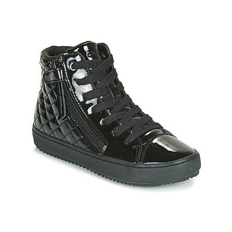 Geox J KALISPERA GIRL girls's Children's Shoes (High-top Trainers) in Black