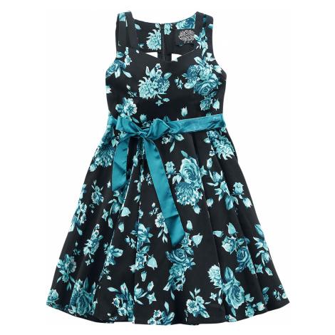 H&R London - Black Rosaceae Swing Dress - Kids Dress - black-turquoise
