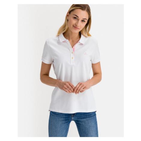 Gant Contrast Collar Polo T-shirt White